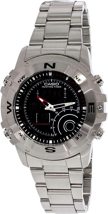 f4e78555ca8 Casio Men s AMW705D-1AV Silver Stainless-Steel Quartz Watch with Black Dial