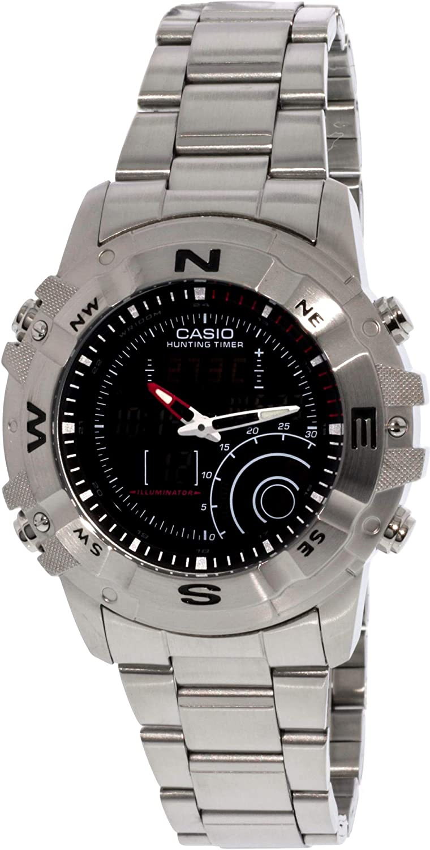 amazon com casio men s amw705d 1av silver stainless steel quartz rh amazon com Casio Pathfinder Hunting Timer Watch Casio Pathfinder Hunting Timer Watch