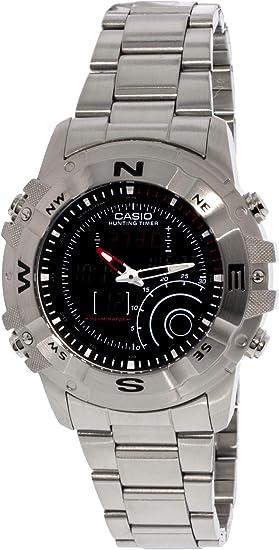 CASIO 19702 AMW-705D-1AV - Reloj Caballero cuarzo brazalete metálico dial negro: Casio: Amazon.es: Relojes