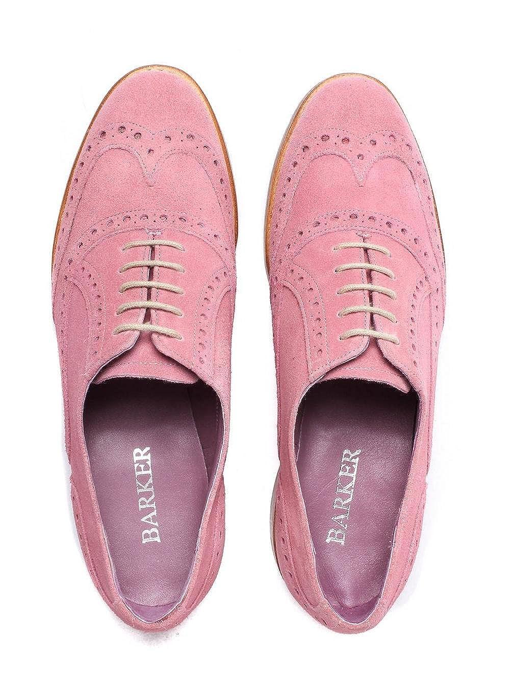 5f0cc1cd30276c Barker Women's Freya Classic Suede Brogues - Pink, Pink, UK4: Amazon.co.uk:  Shoes & Bags