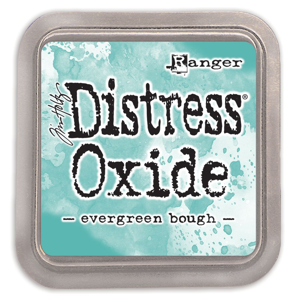 Ranger Distress Evergreen Bough ossido Pad, materiale sintetico, verde, 7.5  x 7.5  x 1.9  cm 7.5 x 7.5 x 1.9 cm TDO55938