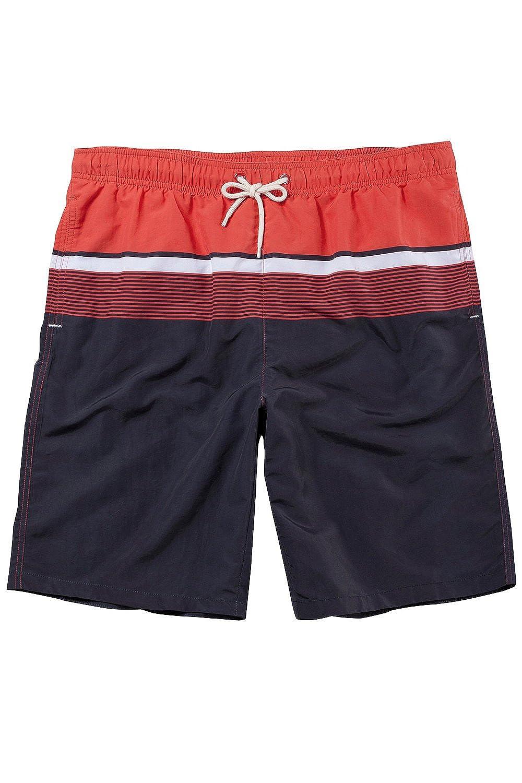 JP1880 Men's Big & Tall Colorblock Stripe Swim Trunks 702543