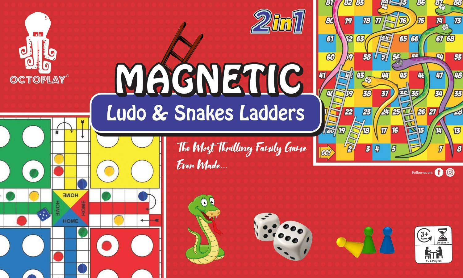 Magnetic Ludo & Snakes and Ladders