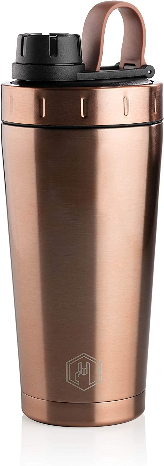Badass Bottle 3-in-1 Stainless Steel Water Bottle, Shaker Bottle, Double Walled Vacuum Insulated Tumbler. Leak Proof, BPA Free, Dishwasher Safe