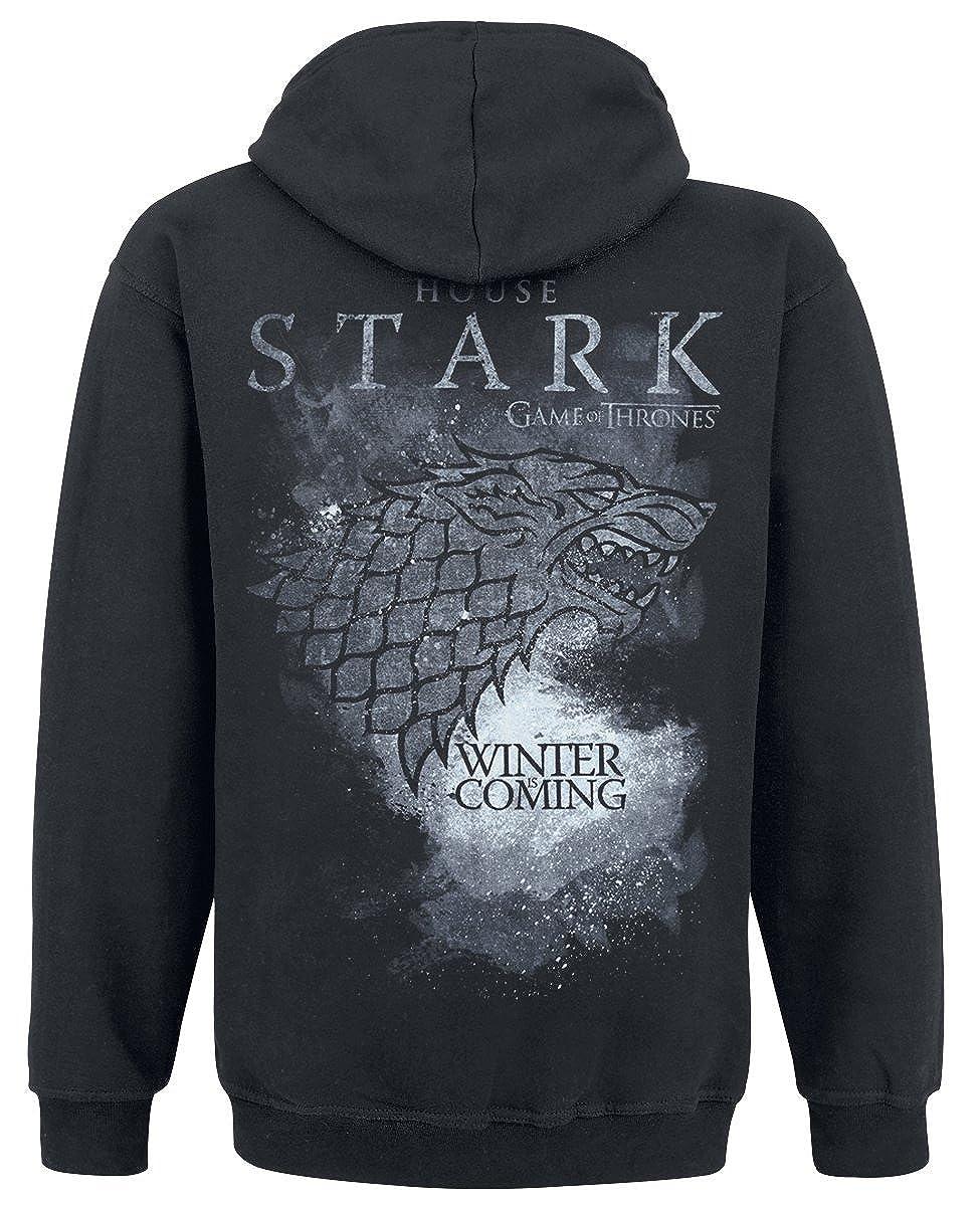 Game Of Thrones Juego de Tronos House Stark Capucha con Cremallera Negro
