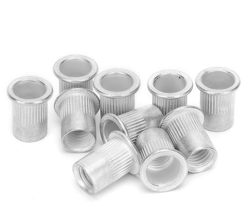 200 St/ück Aluminium Gewindeeinsatzmutter Nietmutter Befestigungszubeh/ör M8