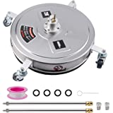 """Biswing 20"""" Pressure Washer Stainless Steel Surface Cleaner with 4 Wheels & 1/4"""" Quick Connector, Power Washer Attachment wit"""