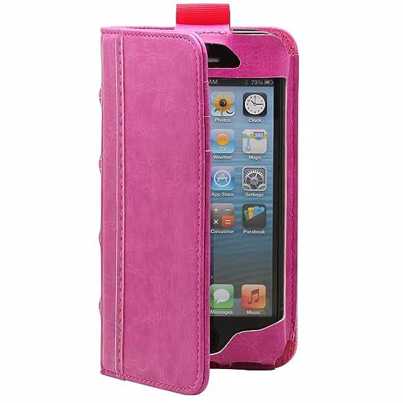 detailed look a7d2c 16965 Amazon.com: Aduro BookCase Vegan Leather Wallet Folio for Apple ...