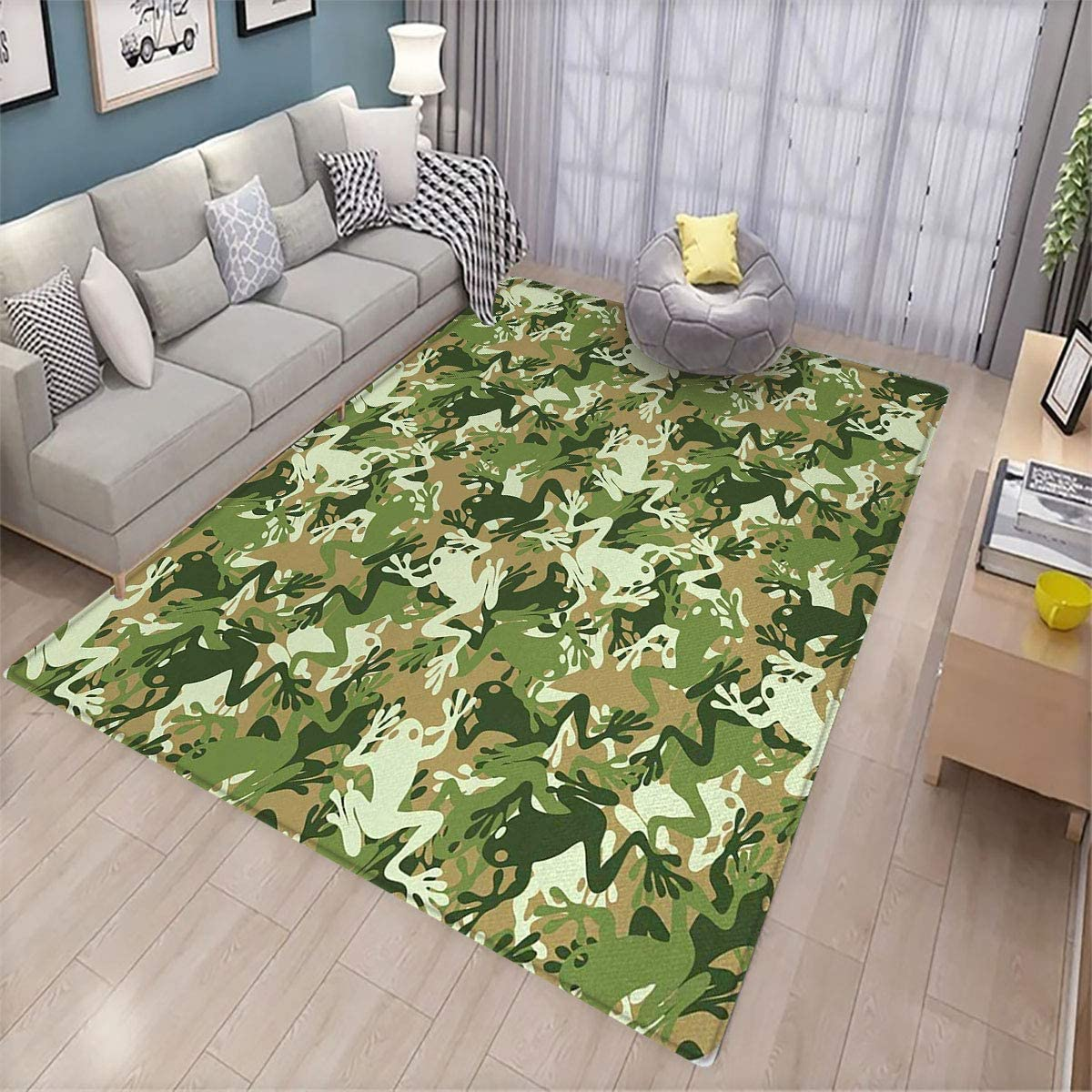 Amazon Com Animal Area Rug Bedroom Decor Skull Camouflage Military Design With Various Frog Pattern Different Tones Art Can Be Used For Floor Decoration 6 X9 Sage Pine Green Kitchen Dining,Color Personality Test Blue Gold Green Orange Free