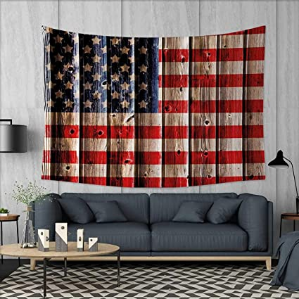 Anniutwo 4th Of July Home Decorations For Living Room Bedroom Rustic Backdrop With American Flag Design