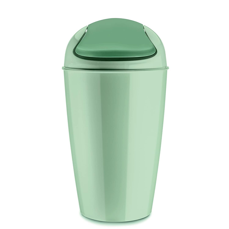 thermoplastique koziol poubelle /à couvercle bascule 30 l 34 x 34 x 64,8 cm turquoise