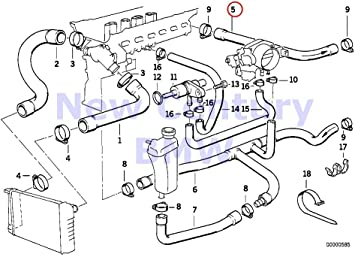 Amazon.com: BMW Genuine Hose F Engine Inlet And Water Valve 320i 323i 325i  325is 328i M3 M3 3.2: AutomotiveAmazon.com