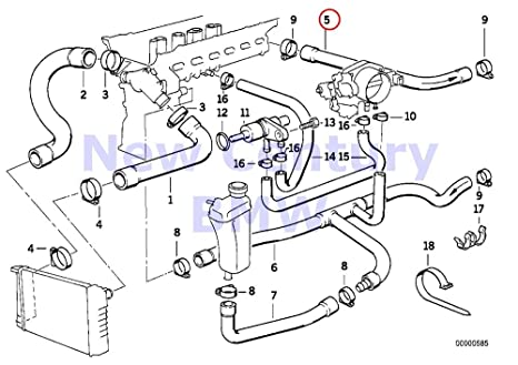 BMW Genuine Hose F Engine Inlet And Water Valve 320i 323i 325i 325is 328i M3  M3