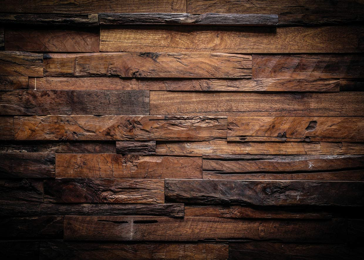 New 7x5FT Brown Wood Backdrop for Photography Retro Wood Wall Background Baby Shower Birthday Party Photo Backdrops Photo Studio Prop 11-794