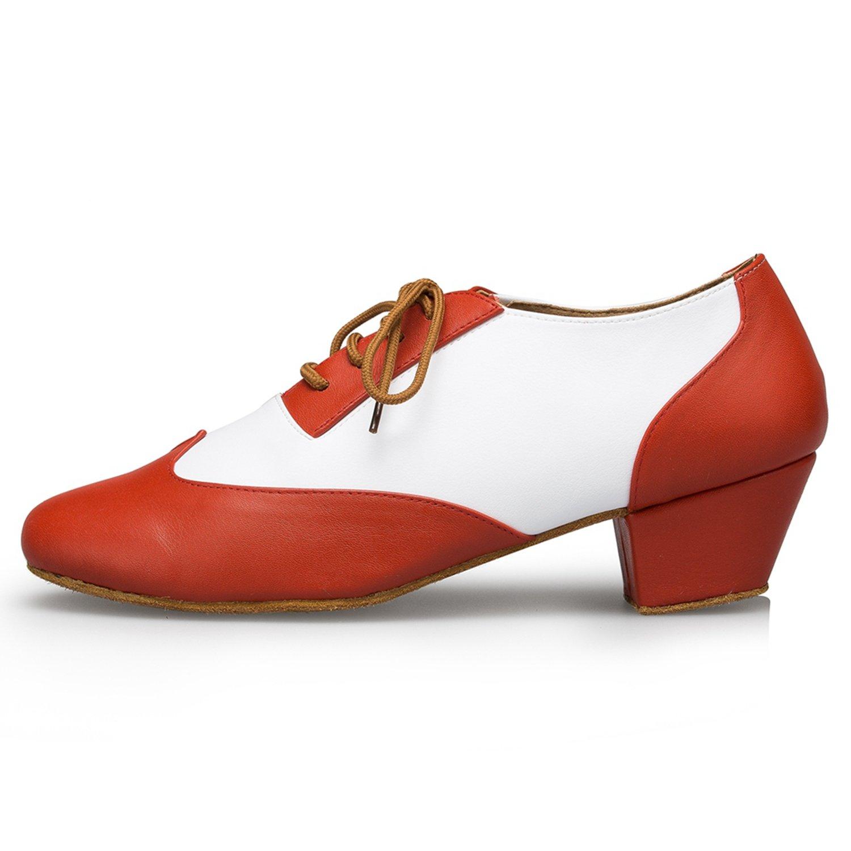Minishion Mens TH177 Fashion Lace-up Leather Wedding Ballroom Latin Taogo Dance Shoes