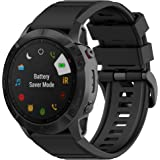 TERSELY Replacement Band for Garmin Fenix 5X/5X Plus, Fenix 6X/6X Pro Bands, 26mm Quick Release Easy Fit Sports Silicone Soft Straps Band for Garmin 3/3HR Smartwatch