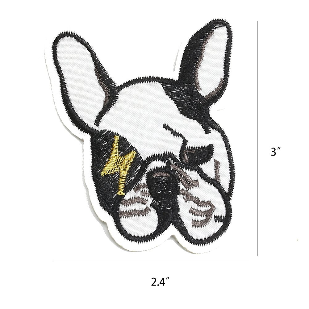 20 PCS Dog Puppy DIY Embroidered Appliques Patch Patterns Sew Iron on Badge Patch for Cloth Decoration Father\'s Day Gifts