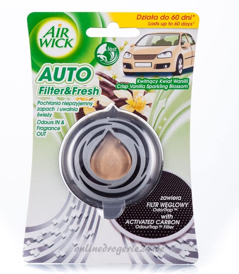 Air Wick Car Filter /& Fresh Crisp Vanilla Sparkling Blossom