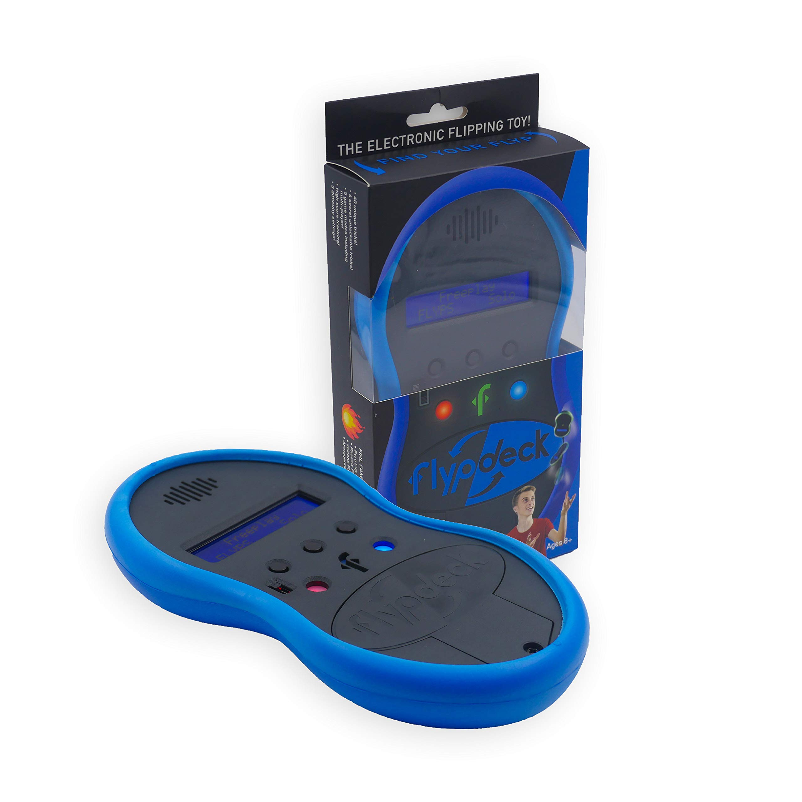 Flypdeck - The World's First Handheld Electronic Flipping Action Toy Game - As Seen On Kickstarter (Blue)
