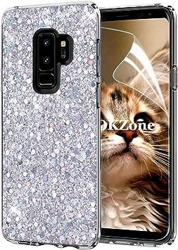 OKZone Funda Samsung Galaxy S9 Plus, Cárcasa Brilla Glitter ...