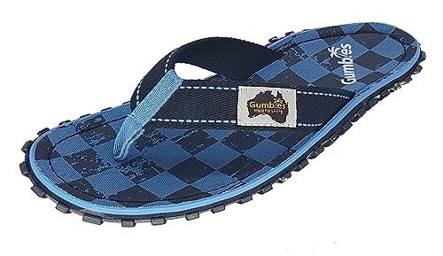13cd45b1f5ef Gumbies Islander Mens Canvas Flip Flops Blue Checker  Amazon.co.uk ...