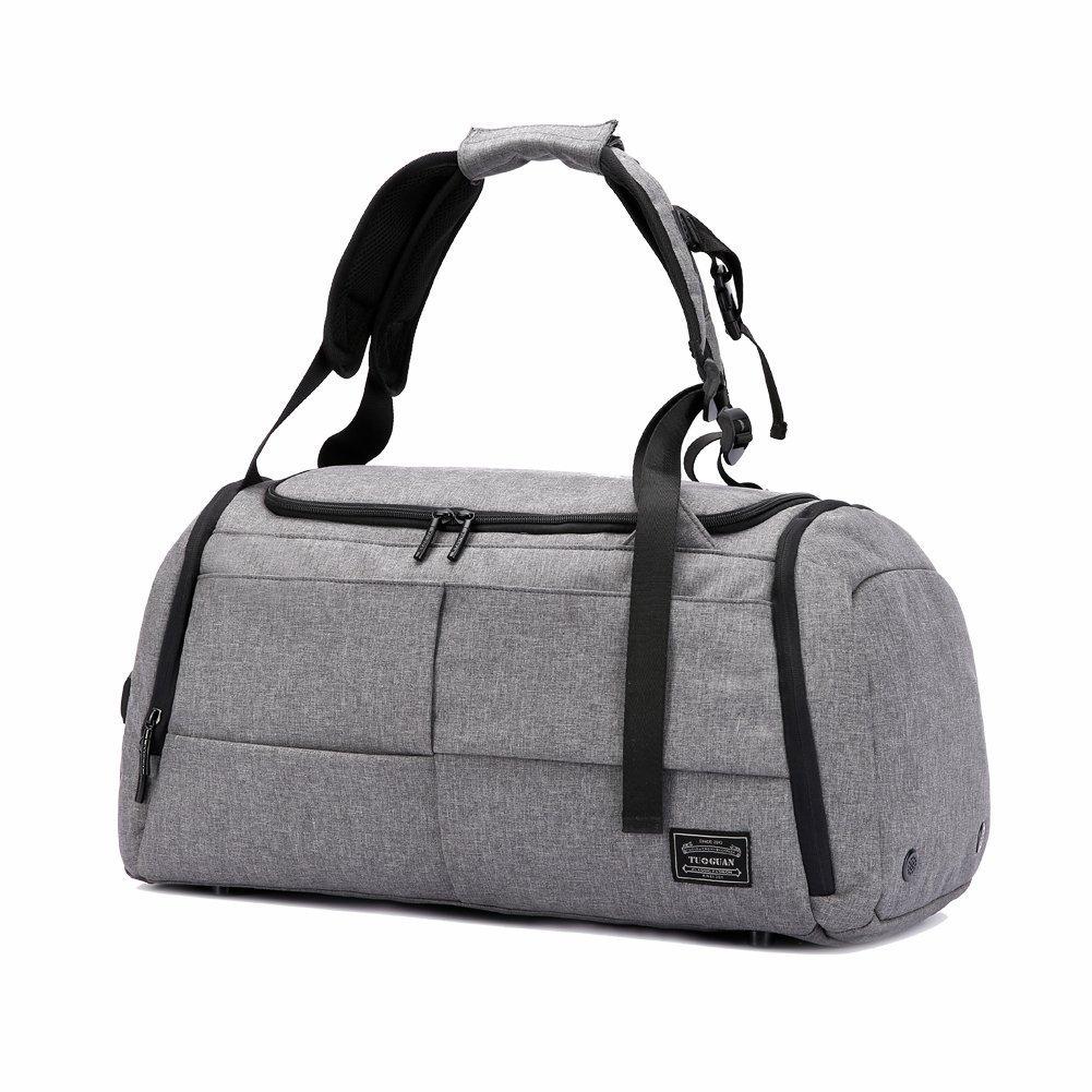 Sporttasche Reisetasche mit Schuhfach Af-tigonhw 35 Liter Handgepäck Tasche 50x25x28 Anti-Diebstahl Wasserdichte Sport Rucksack Hochwertige Canvas Mehrzweck Umhängetaschen für Frauen und Männer
