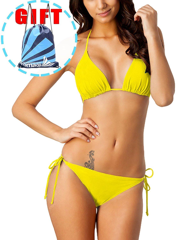 1e68f83eebe Package include  1 bikini Top + 1  bikini Bottom + 1  waterproof bag.      Our Size  5 sexy BIKINI SET (black, yellow, purple, blue, pink,  orange)Series ...