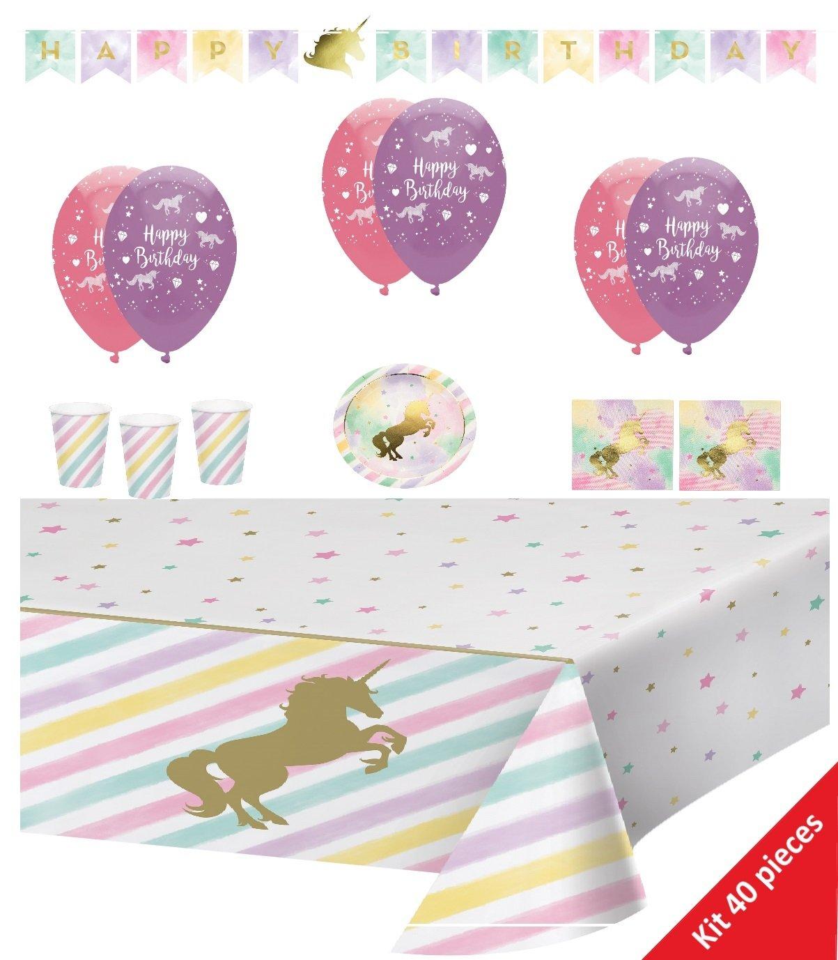 Creative Converting cumpleaños Unicornio, Unicorn Sparkle 40 ...
