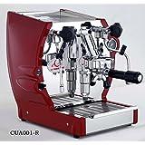 la Nuova Era Cuadra Semi-Professional Espresso and Cappuccino Machine, Single Group, 1.8 Liter Boiler, Red and Stainless Steel