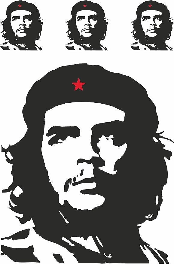 Carstyling Xxl Aufkleber Che Guevara Kontur 4er Set 300 X 200 Mm Schneller Versand Innerhalb 24 Stunden Auto
