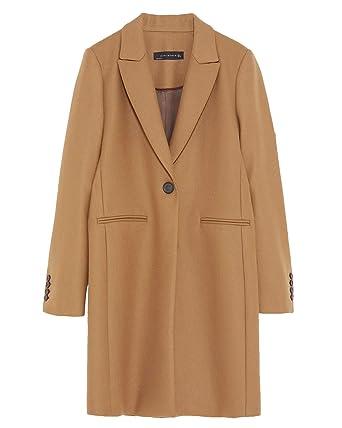 Zara Cappotto Donna Marrone 40: Amazon.it: Abbigliamento