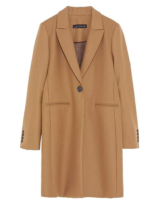 3630807d35bc17 Zara - Cappotto - Donna Marrone 40: Amazon.it: Abbigliamento