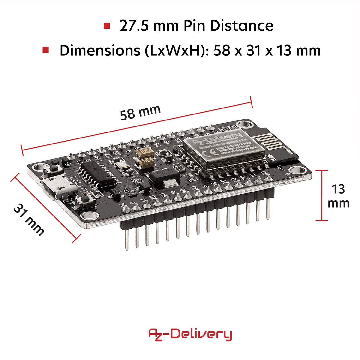Azdelivery Nodemcu Lua Lolin V3 Wifi Parent Business Industry Science