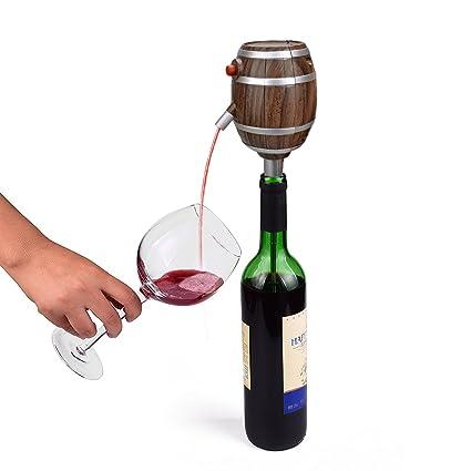 Eléctrico Dispensador Rojo Aireador De Vino decantador bombas funciona con pilas champán espíritu difusor sellador de