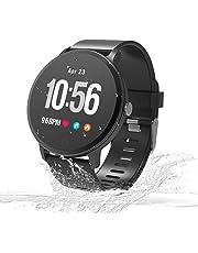 Unique-Fit Smart Watch Fitness Tracker Smart Watch IP67 Monitor de Actividad, Monitor de Pasos, Reloj Deportivo Inteligente para niños, Mujeres y Hombres