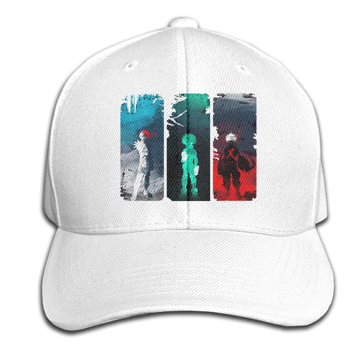 WoodWorths My Hero Academia Adjustable Basketball Cap Peaked Hat Mens Women Leisure Unisex