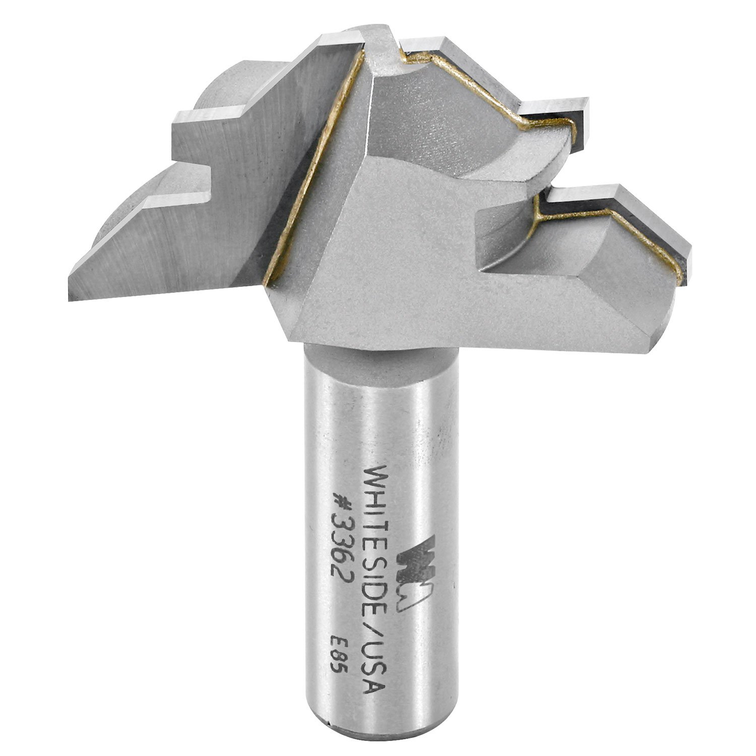 Whiteside Router Bits 3362 45-Degree Lock Miter with 2-Inch Large Diameter and 1/2-Inch to 3/4-Inch Cutting Length by Whiteside Router Bits