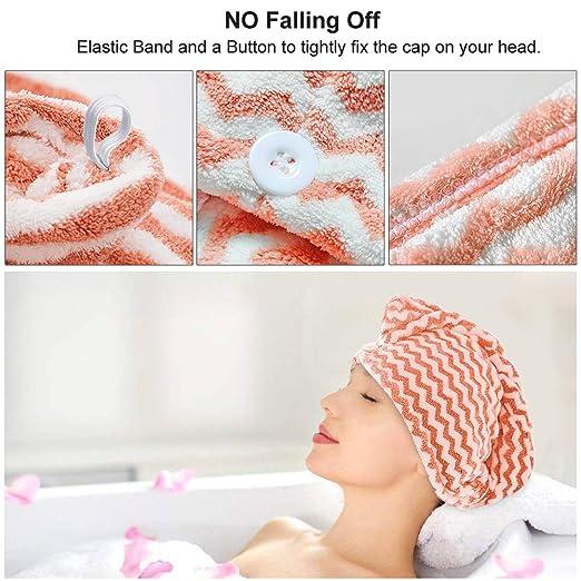 Amazon.com: Toalla para el pelo, turbante de microfibra ...