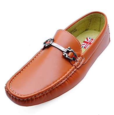MENS DARK BROWN SLIP-ON WORK WEDDING SMART CASUAL LOAFERS SHOES SIZES 6-11