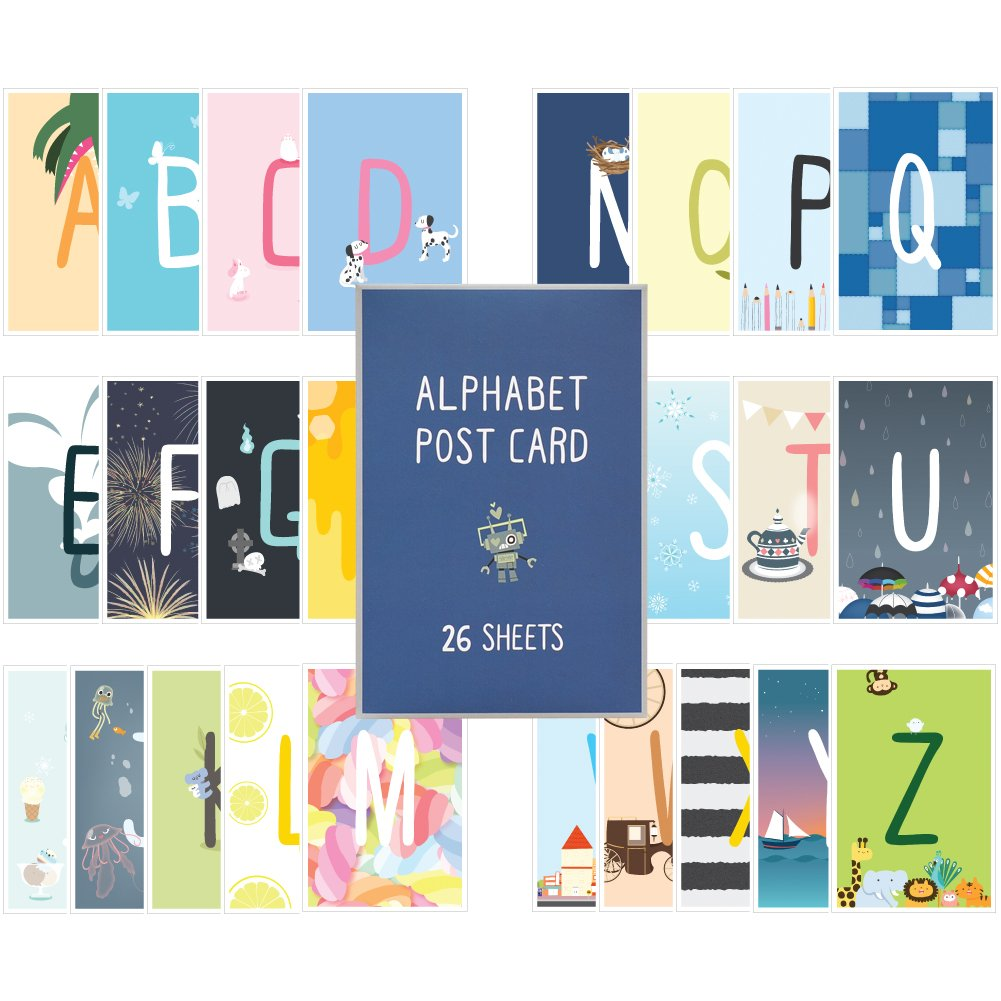 Monolike Postcards - Alpabet mix 26 pack by Monolike (Image #1)