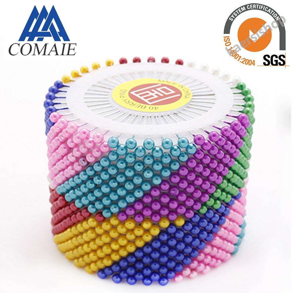 480 spilli colorati con perline rotonde, aghi di posizionamento diritti kaersishop