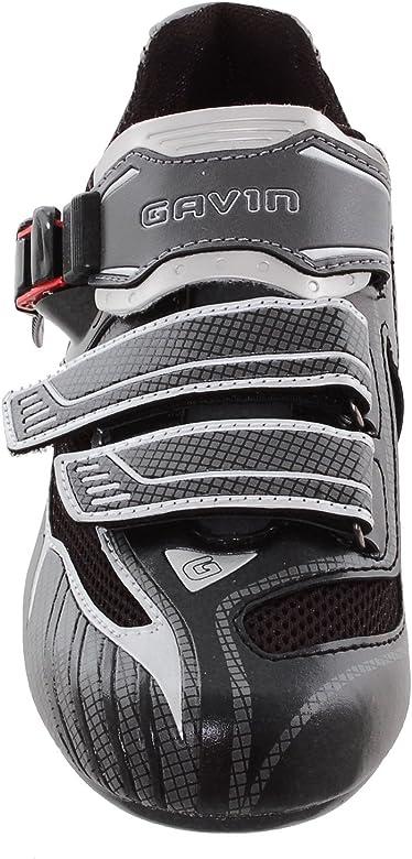 Gavin Zapatos de Ciclismo de Carretera Elite 46 M UE Negro/Gris ...