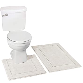 Amazon Com Mdesign Soft Microfiber Polyester Spa Rugs For Bathroom