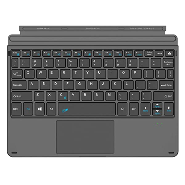 Arteck Microsoft Surface Go Type Cover, Ultra-Slim Portable Bluetooth Wireless Keyboard with Touchpad Built-in Rechargeable Battery (Tamaño: Surface Go Type Cover)
