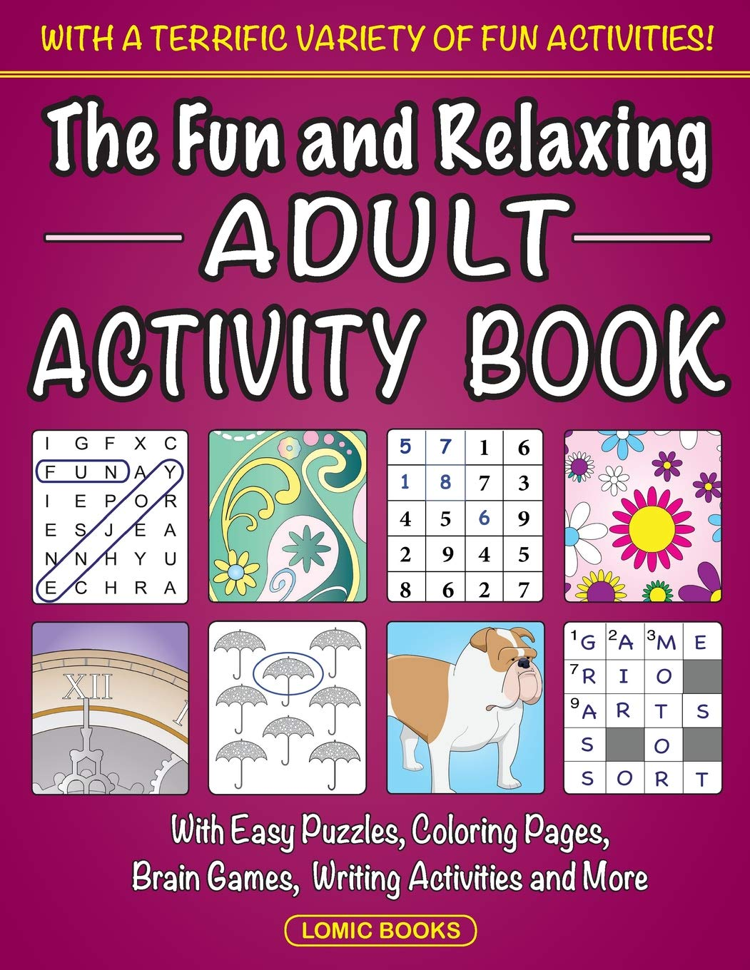 Fun Relaxing Adult Activity Book product image