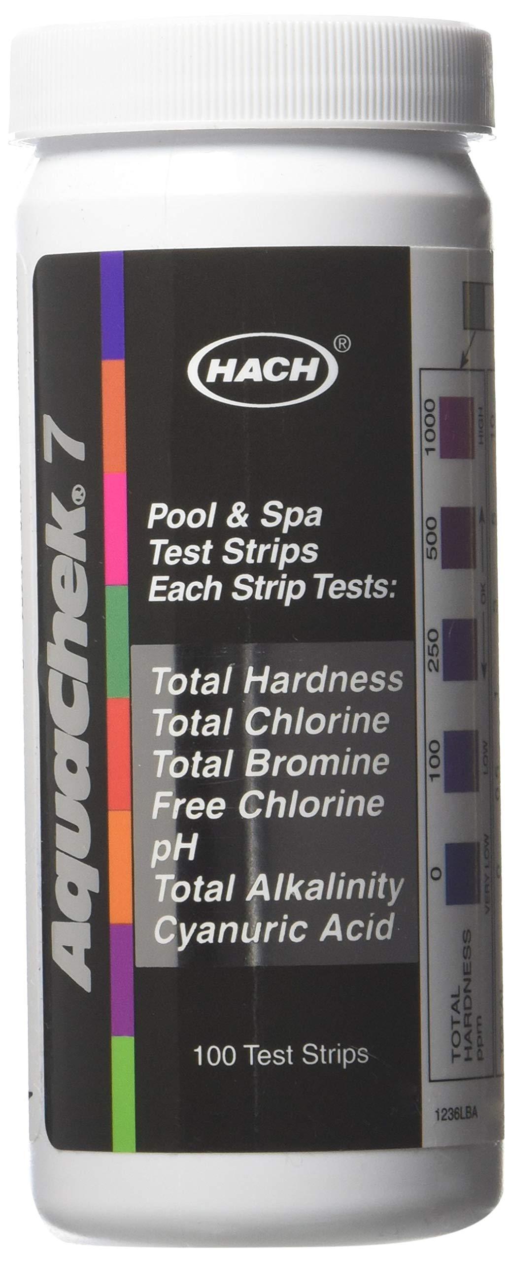 AquaChek 551236 7-Way 100 Count Pool Water Test Strips