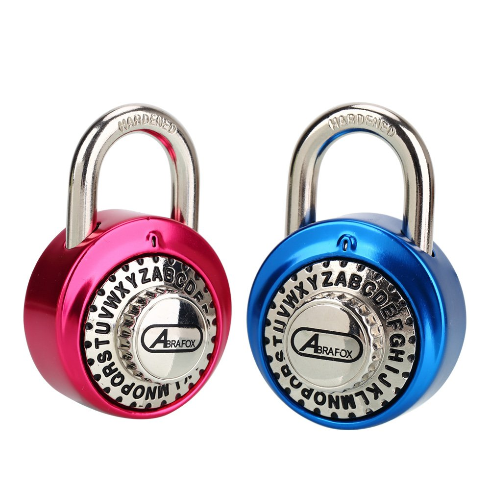 ABRAFOX 2-Pack Standard Dial Combination Lock Heavy Duty Set Your Own Padlock for School, Employee, Gym & Sports Locker, Case, Toolbox, Fence