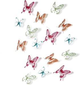 COLOR BUTTERFLIES WALL DECOR FROM UMBRA