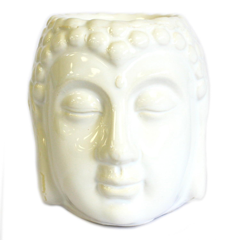 Classic White Ceramic Buddah Wax Melt or Oil Burner Pot AW