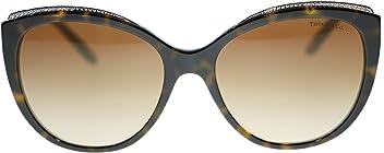 71be1e9a72b TIFFANY   CO Cat Eye Sunglasses TF4134B 81343B Havana Blue Brown 56mm  Authentic